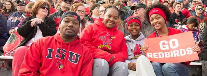 Family at a football game